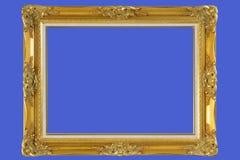 frame de retrato de madeira chapeado ouro   Fotografia de Stock