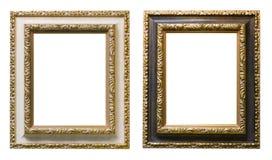 Frame de retrato de madeira chapeado ouro Imagem de Stock Royalty Free