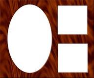 Frame de retrato de madeira - esvazie ilustração royalty free