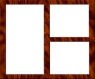 Frame de retrato de madeira - esvazie ilustração do vetor