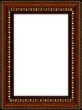 Frame de retrato de madeira rústico antigo isolado Fotografia de Stock Royalty Free