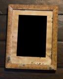 Frame de retrato de madeira velho Imagens de Stock