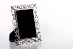 Frame de retrato de prata imagem de stock