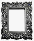 Frame de retrato de prata antigo Imagens de Stock