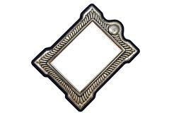 Frame de retrato de prata manchado Imagens de Stock Royalty Free