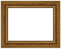 Frame de retrato do ouro com um teste padrão decorativo Fotografia de Stock