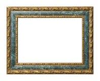 Frame de retrato do ouro e do mármore com trajeto de grampeamento Fotos de Stock Royalty Free
