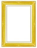 Frame de retrato do ouro Fundo branco isolado Fotografia de Stock Royalty Free