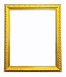 Frame de retrato do ouro. Isolado sobre o fundo branco Fotografia de Stock