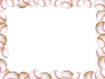 Frame de retrato dos basebol Fotos de Stock