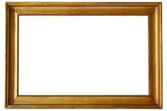 Frame de retrato dourado fotografia de stock