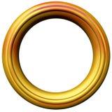 Frame de retrato dourado Imagem de Stock