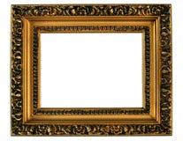 Frame de retrato dourado. fotos de stock
