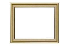 Frame de retrato dourado Foto de Stock