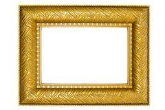 Frame de retrato dourado com ornamento imagem de stock royalty free