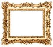 Frame de retrato dourado do vintage Objeto antigo do estilo fotografia de stock