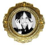 Frame de retrato e face engraçada Imagens de Stock