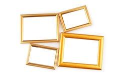 Frame de retrato isolado no branco Fotos de Stock