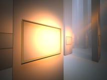 Frame de retrato na galeria Foto de Stock