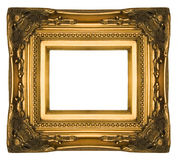 Frame de retrato ornamentado do ouro do vintage Foto de Stock Royalty Free