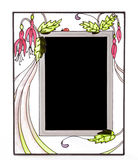 Frame de retrato ornamentado do vidro manchado fotografia de stock royalty free