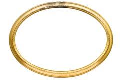 Frame de retrato oval danificado com trajeto Imagem de Stock