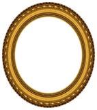 Frame de retrato oval do ouro Fotos de Stock Royalty Free