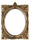 Frame de retrato oval Ornamented velho sujo com trajeto Fotos de Stock Royalty Free