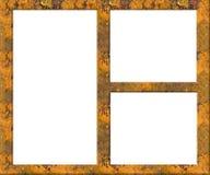 Frame de retrato oxidado de Grunge do metal - esvazie ilustração stock