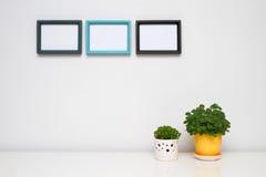Frame de retrato para a decoração Home. Fotos de Stock