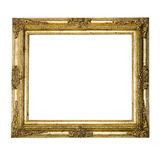 Frame de retrato textured ornamentado do grande ouro Fotografia de Stock