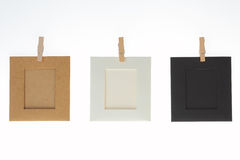 Frame de retrato três vazio Imagem de Stock