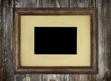Frame de retrato velho rústico   Fotografia de Stock