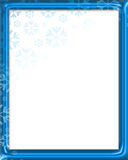 Frame de Snowfake Foto de Stock