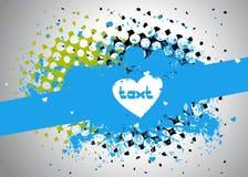 Frame de texto da mancha Imagens de Stock