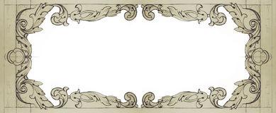 Frame decorado Fotos de Stock Royalty Free