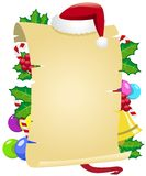 Frame decorado vertical do Natal Fotografia de Stock Royalty Free