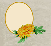 Frame decorated with chrysanthemum Royalty Free Stock Photos