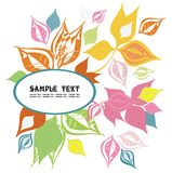 Frame decorated with colorful leaves. Vector drawing of the frame decorated with colorful leaves Stock Photography