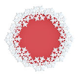 Frame decorated with snowflakes Royalty Free Stock Photo
