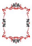 Frame for decoration. A frame or border for decoration in black and red Royalty Free Stock Images