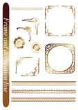 Frame and decoration line Royalty Free Stock Image
