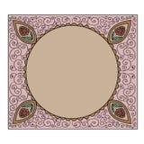 Frame,decorative border. Background with decorative ornamental border royalty free illustration