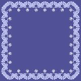 Frame with decorative elements on blue background Royalty Free Stock Photo