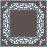 Frame decorative elements ornamental pattern Royalty Free Stock Images