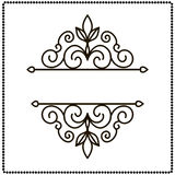 Frame with decorative elements. Vector illustration. Royalty Free Stock Photo