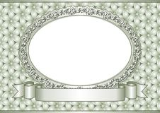Frame. Decorative frame and ribbon - vector illustration Royalty Free Stock Photo