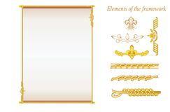 Frame with decorative ornament Royalty Free Stock Photography