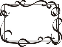 Frame with decorative swirls. Abstract frame Royalty Free Stock Photo