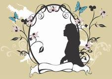 Frame decorativo ilustração royalty free
